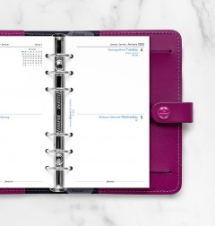 Two Days On One Page Diary English/French/German Personal