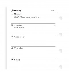 Week On One Page Diary Mini