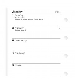 Week On One Page Diary Mini 2021