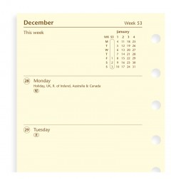 Week On Two Pages Diary Pocket 2019 Cotton Cream