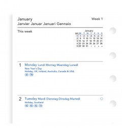 Week On Two Pages Diary Pocket 2019