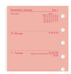 Week On Two Pages Diary Pocket Pink 2020