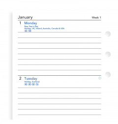 Week On Two Pages Lined Diary Personal