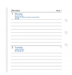 Week On Two Pages Lined Diary Personal 2020