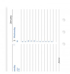 Week On Two Pages Diary With Appointments Personal Horizontal 2020
