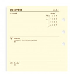 Week On Two Pages Diary Personal 2019 Cotton Cream
