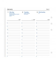 Week On Two Pages Diary With Appointments A5 2020