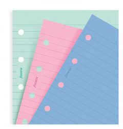 Fashion Coloured Ruled Notepaper Refill