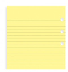Yellow Ruled Notepaper Personal Refill