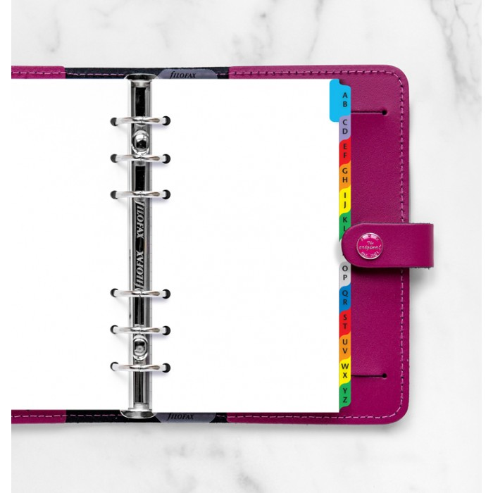 A-Z Index Personal Multi-Colored - Two Letters Per Tab