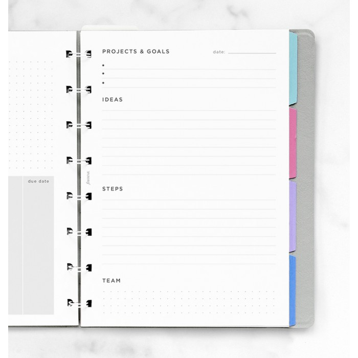 Projects & Goals Notebook Refill - A5