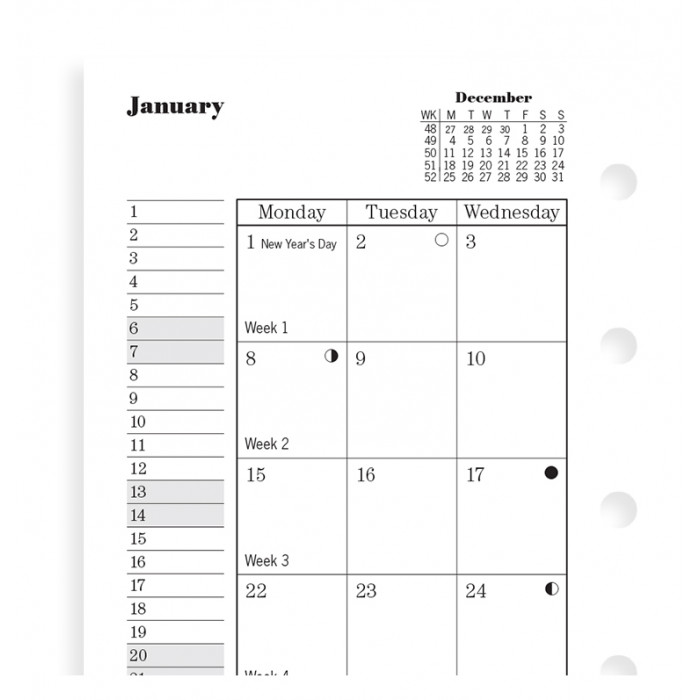 Month On Two Pages Diary Mini