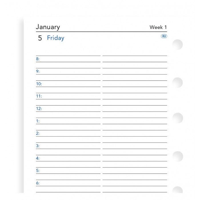 One Day On A Page Diary With Appointments Pocket 2021