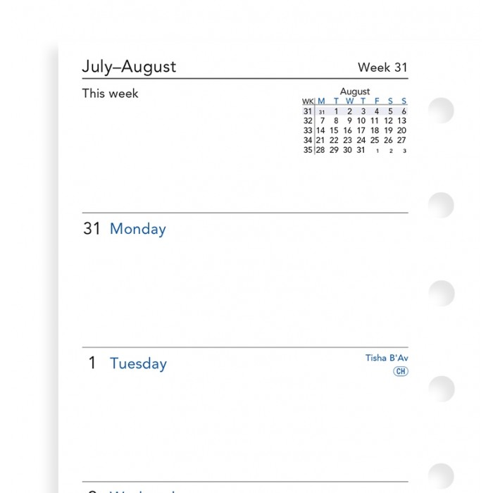 Week On Two Pages Academic Diary Pocket 2018-2019