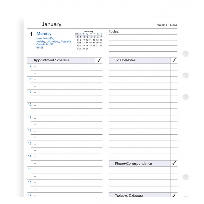 One Day On A Page Business Diary A5 2021