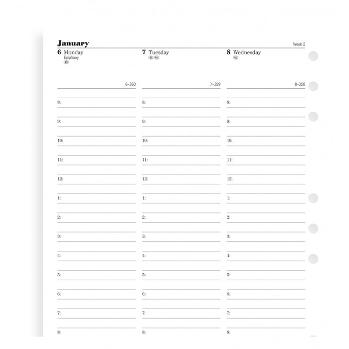 Week On Two Pages Diary With Appointments Deskfax 2019