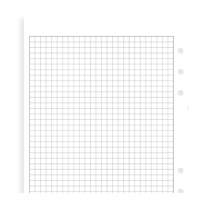 White Quadrille Notepaper Refill