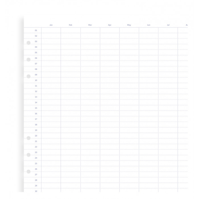 Clipbook Undated A5 Year Planner Refill