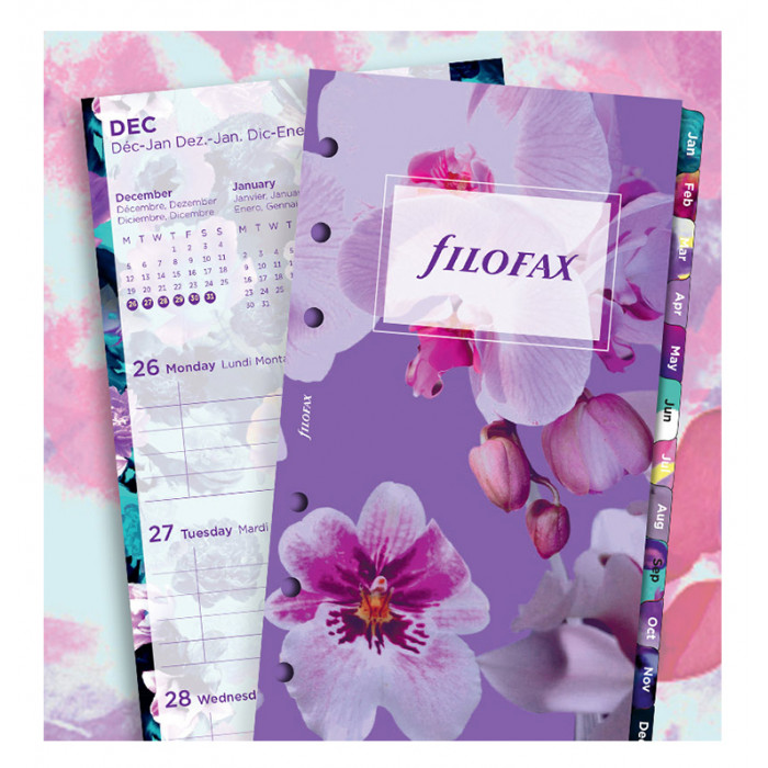 Floral Illustrated Diary Refill Pack Personal