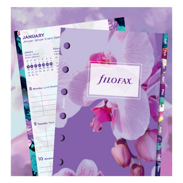 Floral Illustrated Diary Refill Pack Pocket 2019
