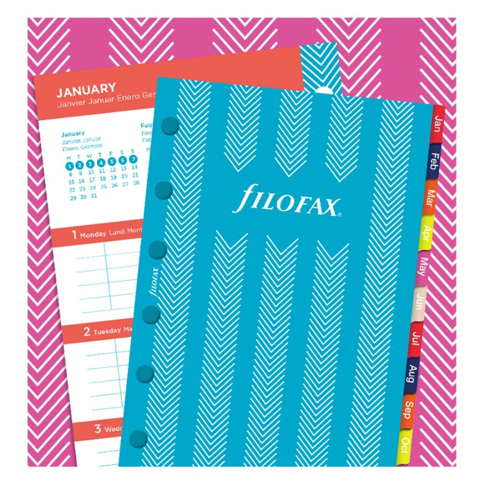 Stripes Illustrated Diary Refill Pack Pocket 2020