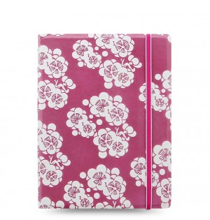 Filofax Notebook Impressions A5 Pink/White