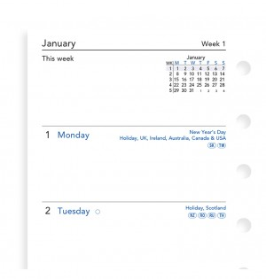 Week On Two Pages Diary Pocket 2020