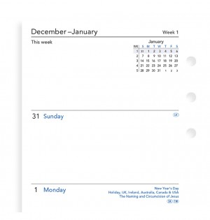 Week On Two Pages Diary Personal Sunday Start