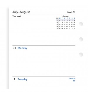 Week On Two Pages Academic Diary Personal 2020-2021