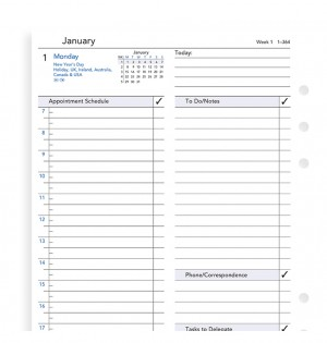 One Day On A Page Business Diary A5 2020