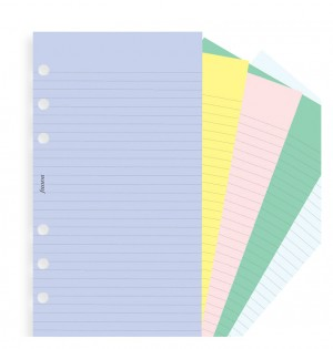Assorted Coloured Notepaper, Plain And Ruled Value Pack Refill - Personal