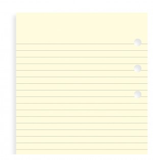 Cotton Cream Ruled Notepaper Personal Refill