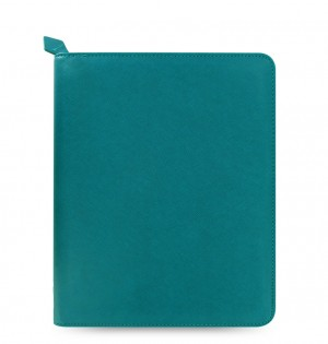 eniTAB360 Large Universal Tablet Case - Saffiano Zip Aquamarine