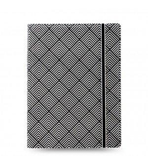 Filofax Notebook Impressions A5 Black/White Deco