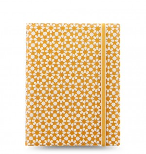 Filofax Notebook Impressions A5 Yellow/White