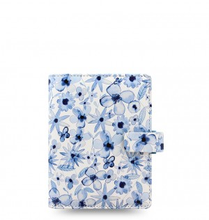 Patterns Indigo Floral Pocket Organizer