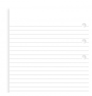 White Ruled Notepad Refill