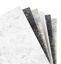 Feuilles de notes unies - Assortiment Marble - A5