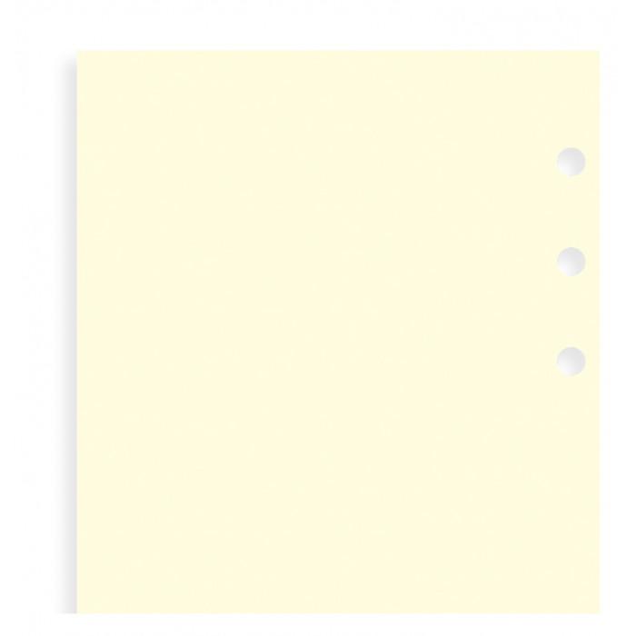 Feuilles de notes unies Cotton Cream - Personal