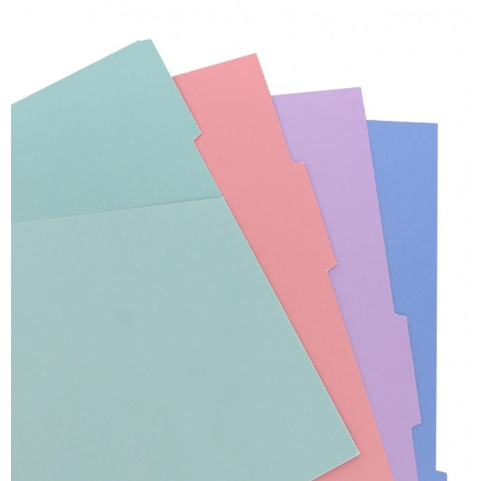 Intercalaires colorés pastel pour cahier de notes Filofax - Pocket
