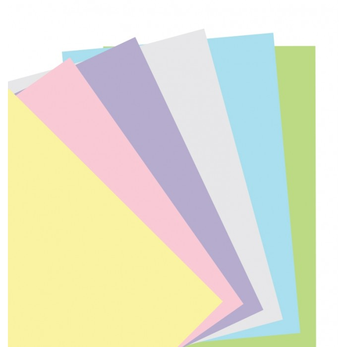 Feuilles de notes unies - Assortiment pastel