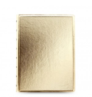 Filofax Notebooks Saffiano Metallics - A5 - Or