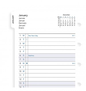 Filofax Notebook - Planning mensuel avec onglets - A5