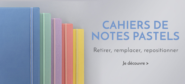Cahiers de notes Filofax Pastel